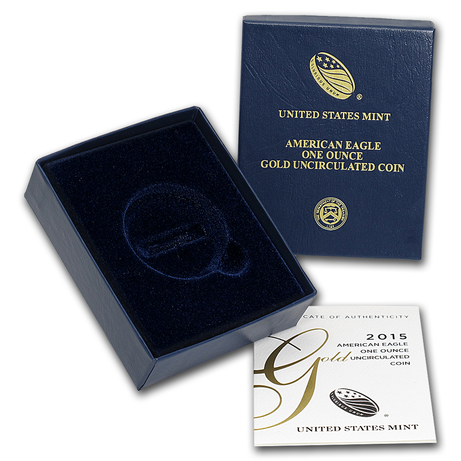 OEM Box & COA - 2015-W 1 oz Burnished Gold Eagle