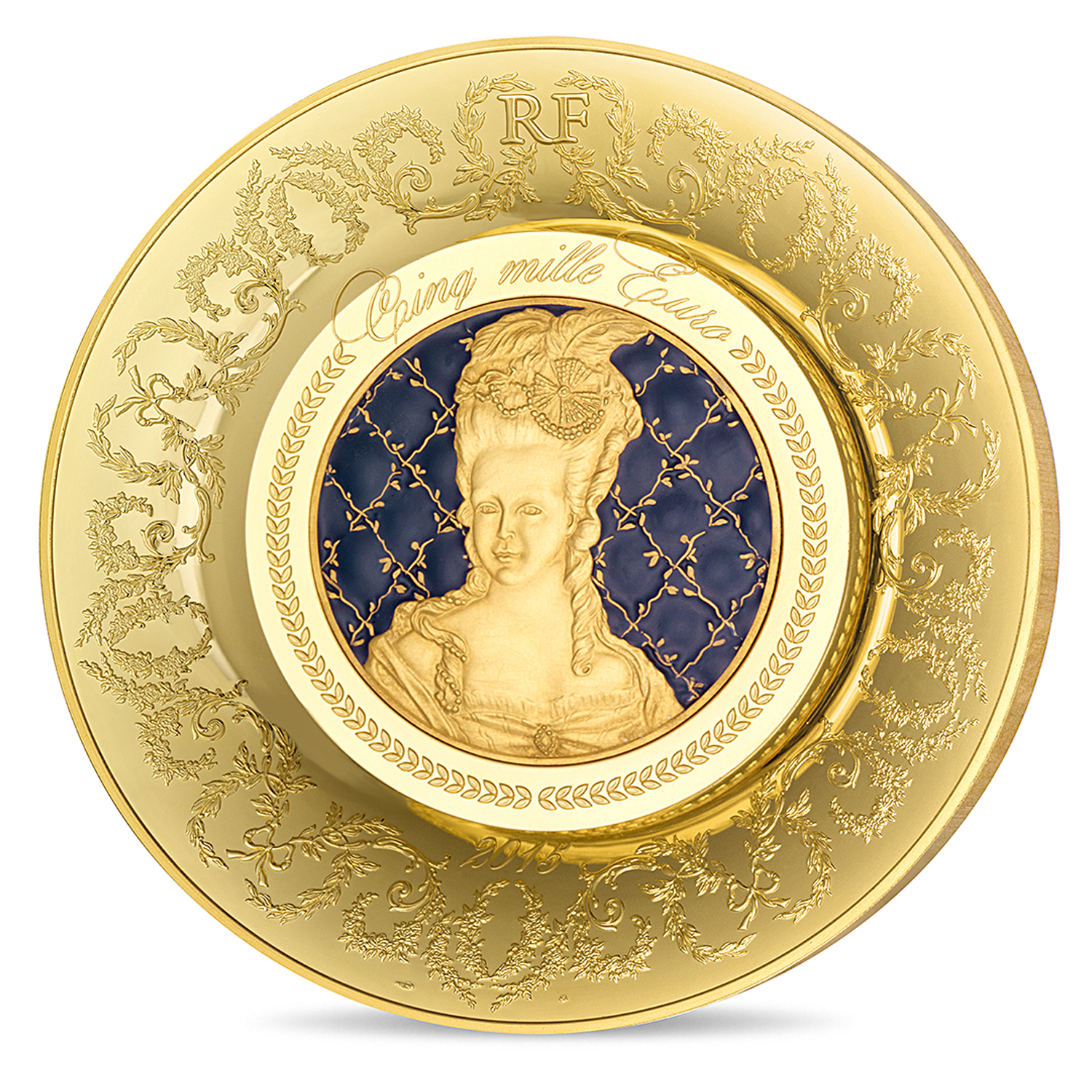 2015 1 kilo Proof Gold €5000 Excellence Series (Grand Feu)