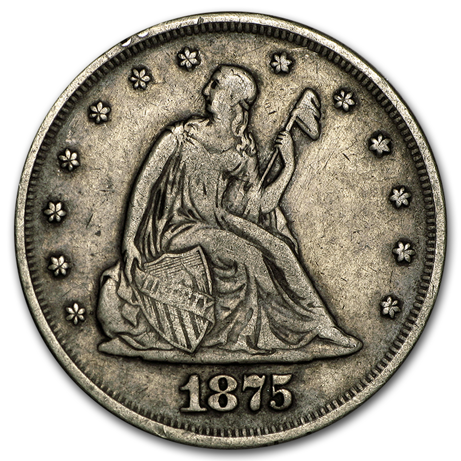 1875 Twenty Cent Piece VF