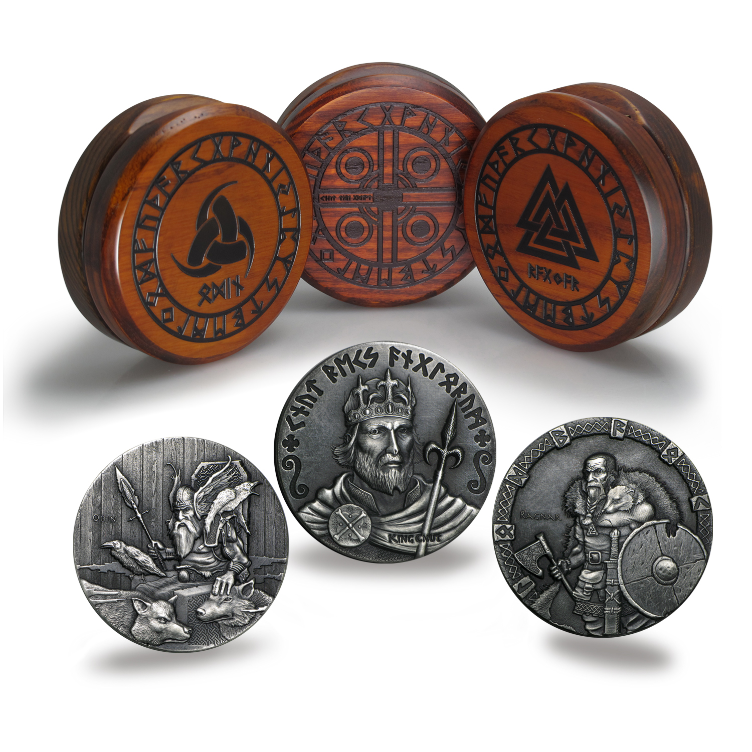2015 3-Coin 6 oz Silver Set Viking Series