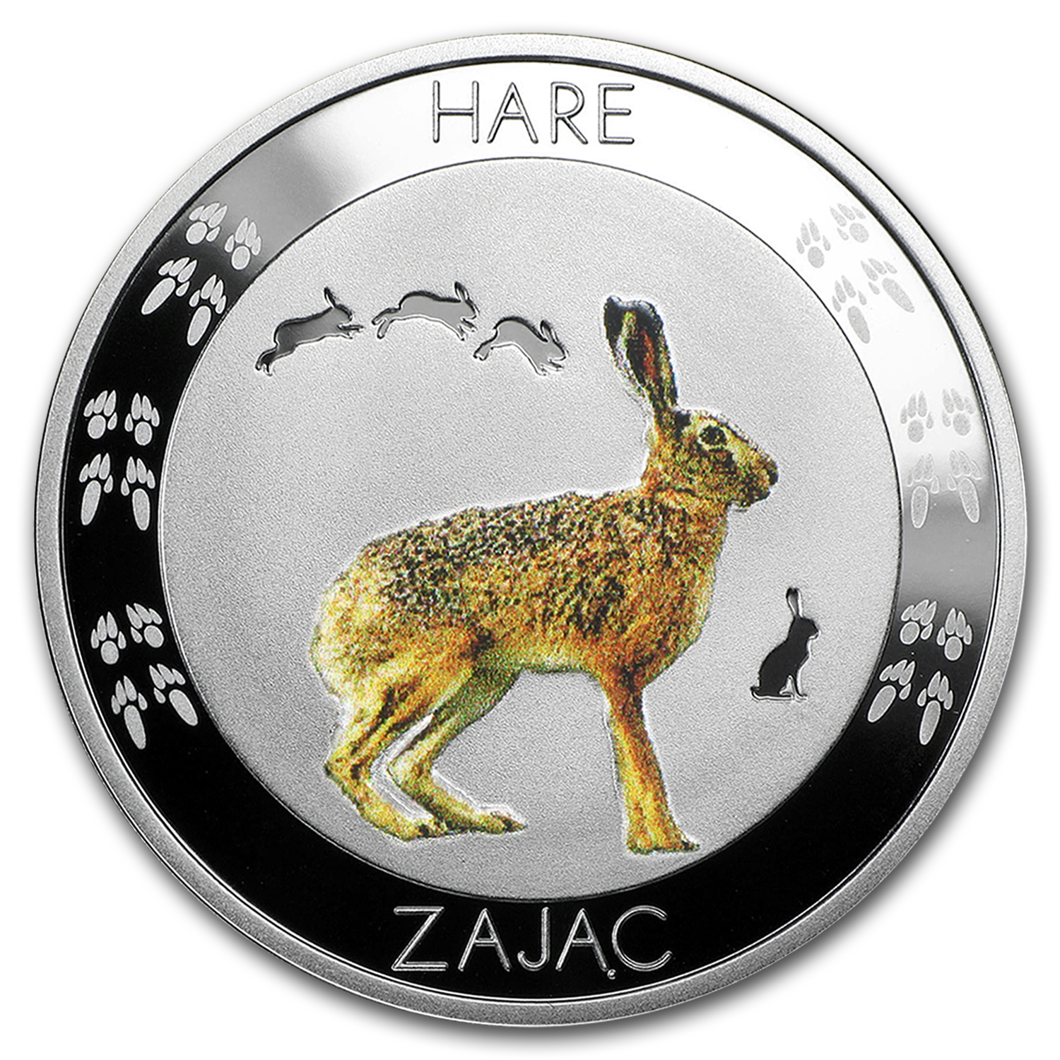 2015 Niue Silver Symbols of Nature Hare Proof