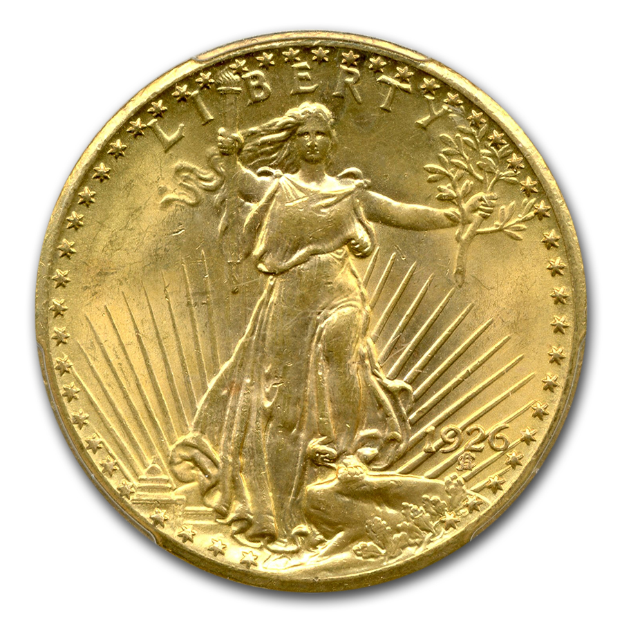 1926 $20 Saint-Gaudens Gold Double Eagle MS-63 PCGS (TDO FS-101)