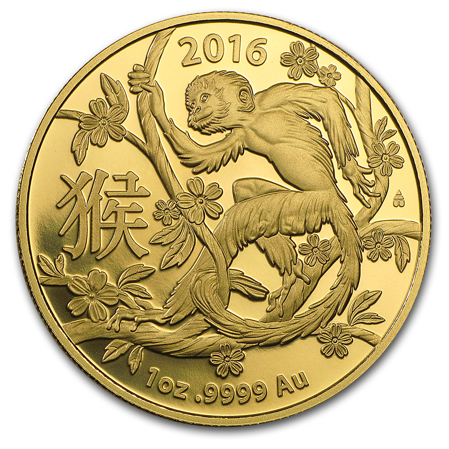 2016 Australia 1 oz Gold Lunar Year of the Monkey BU (RAM)