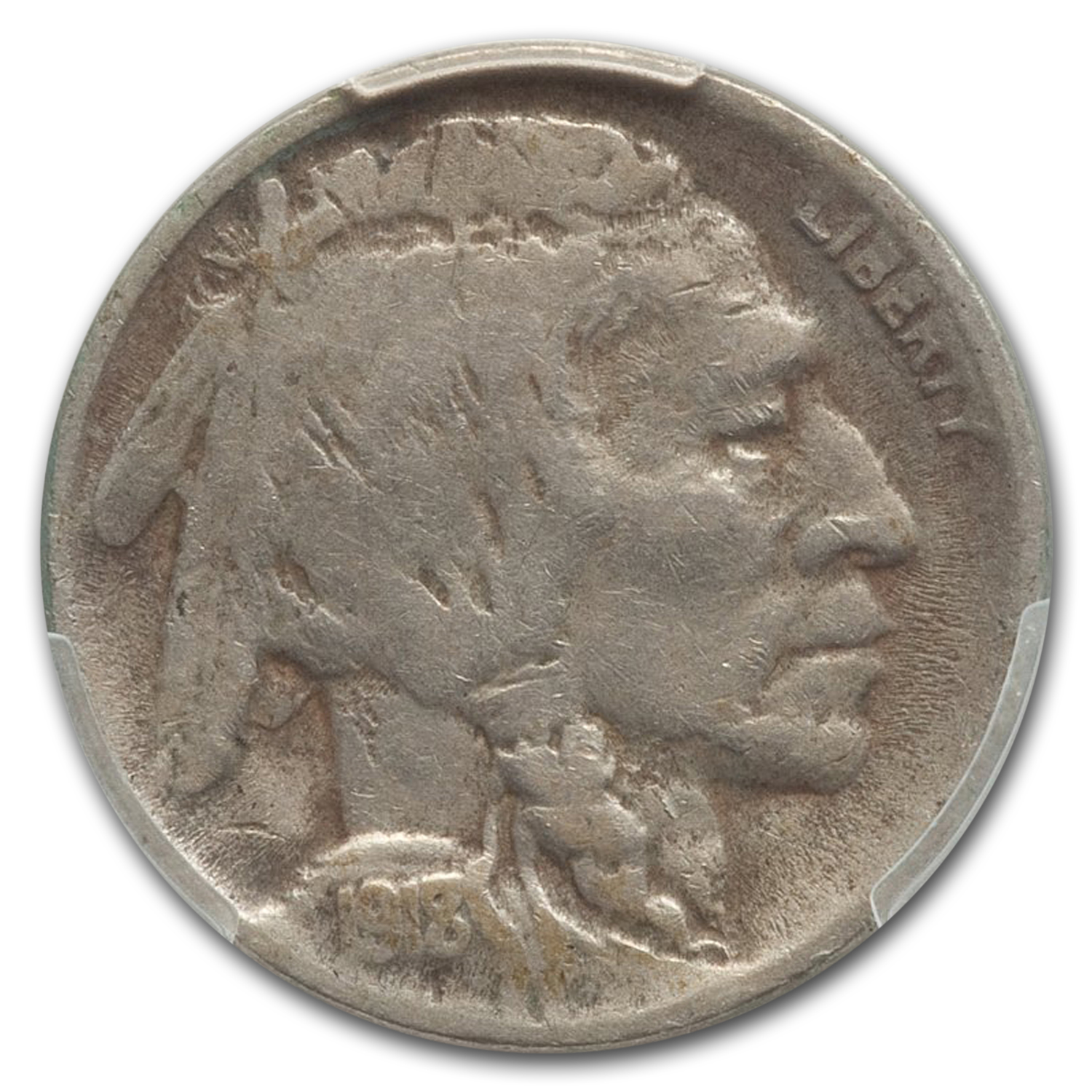 1918/7-D Buffalo Nickel Fine-15 PCGS
