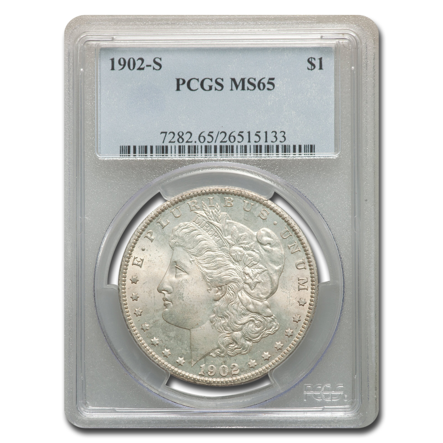 1902-S Morgan Dollar MS-65 PCGS