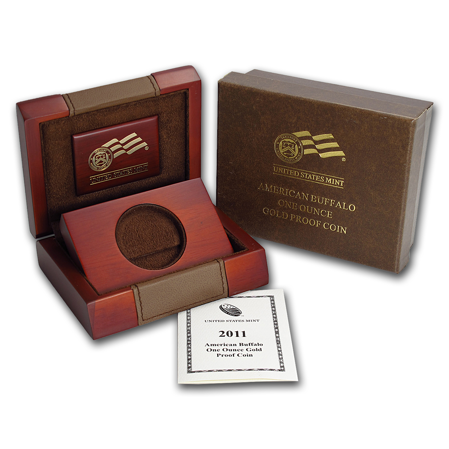 OGP Box & COA - 2011-W Proof 1 oz Gold Buffalo