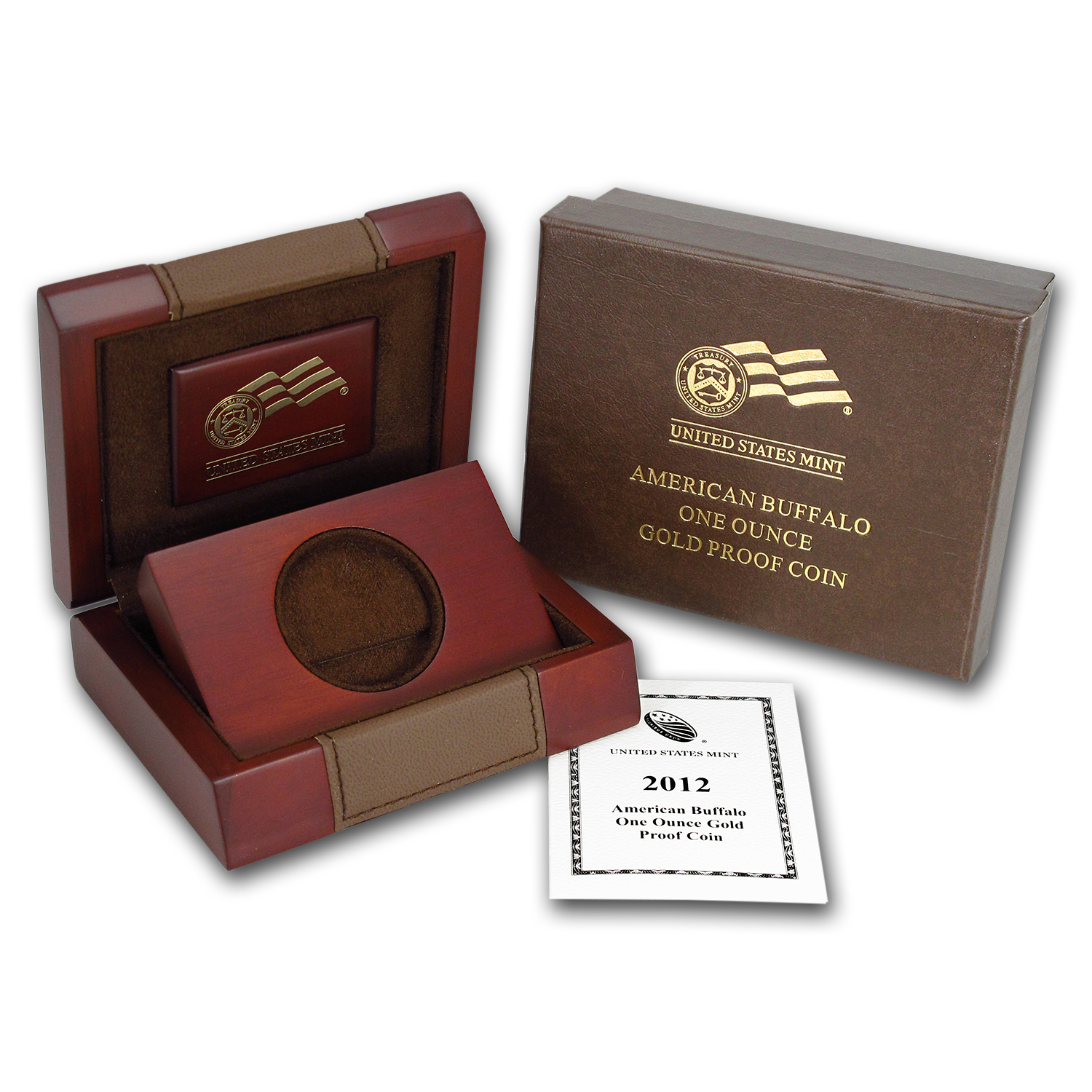 OEM Box & COA - 2012-W Proof 1 oz Gold Buffalo
