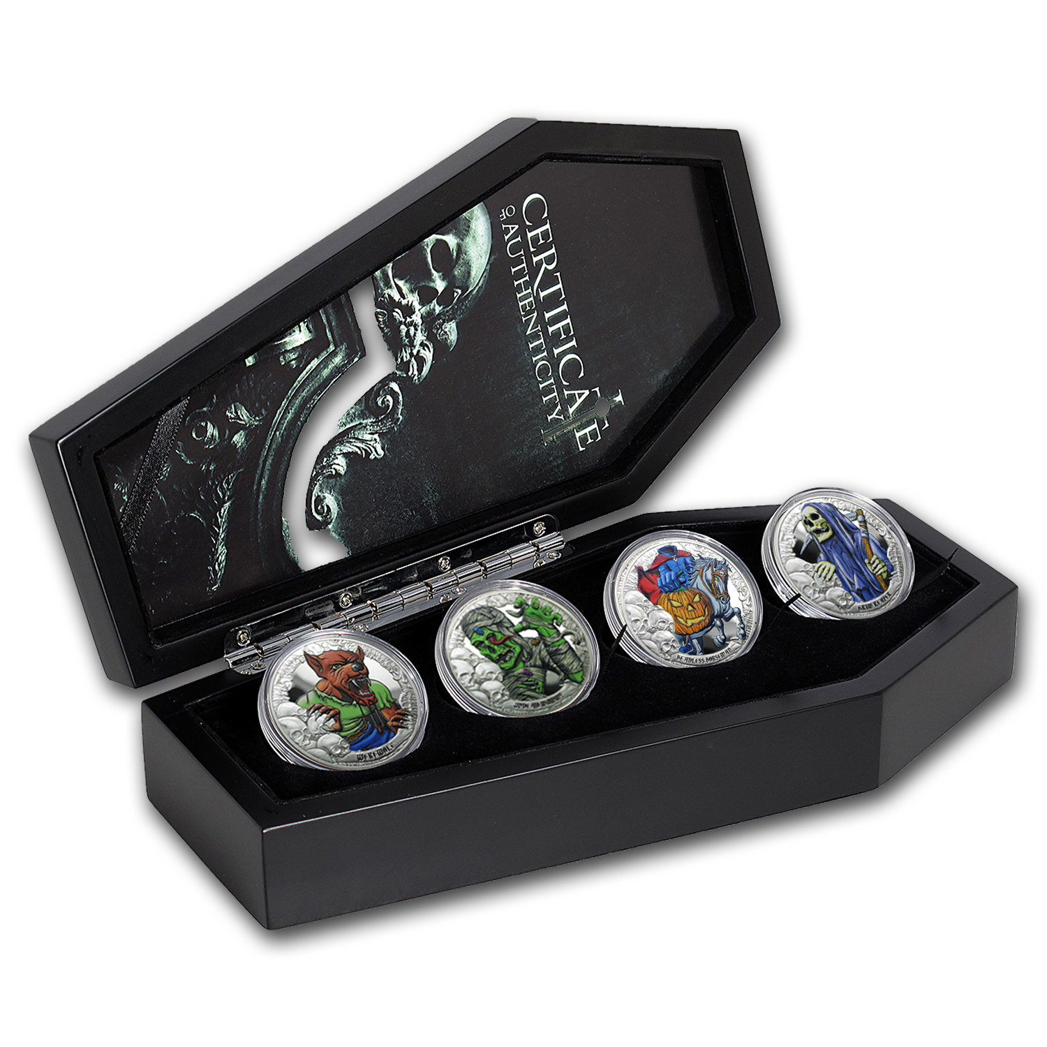 2016 Republic of Kiribati 4-coin Set Silver Coins from the Crypt