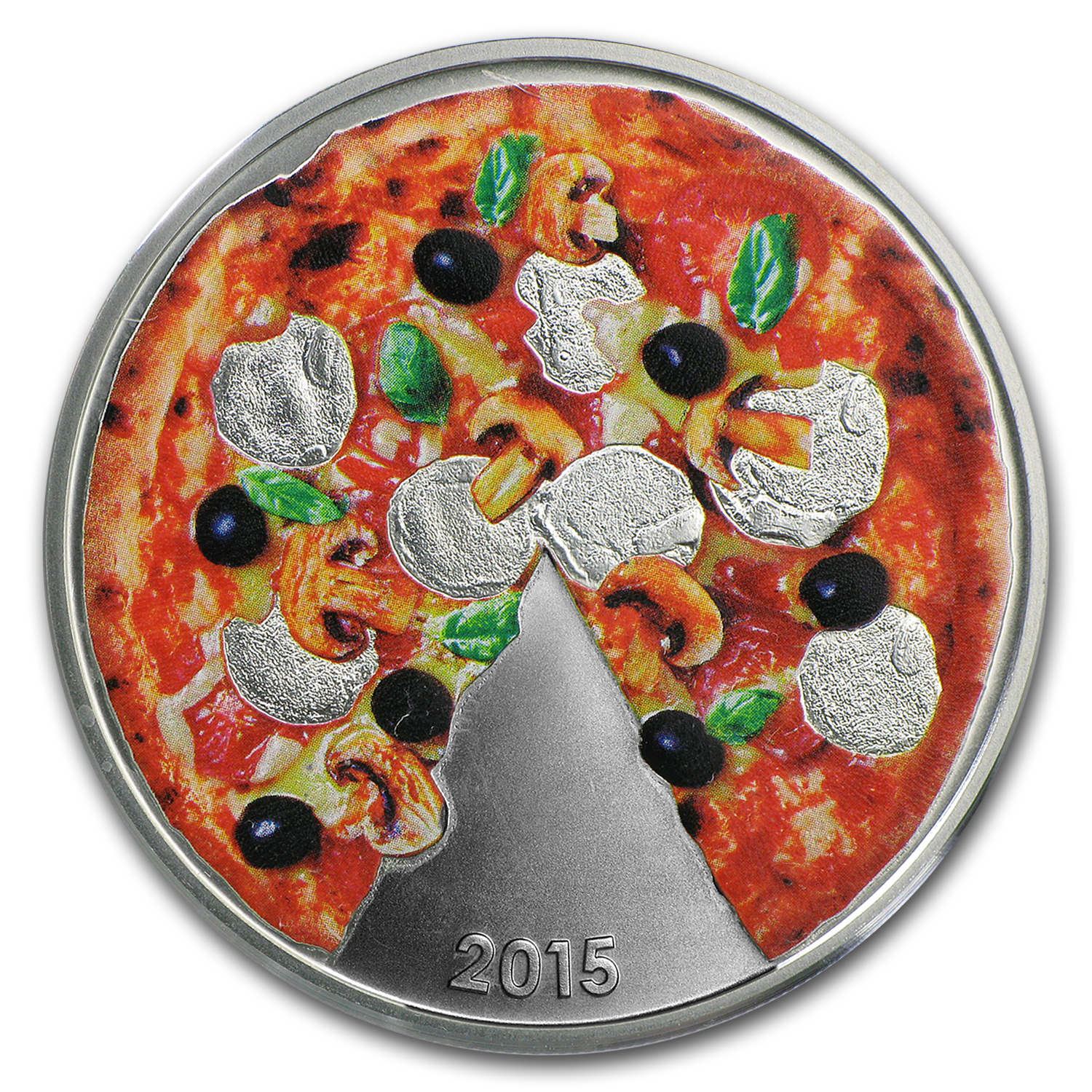2015 Solomon Island Silver Pizza Scented Proof