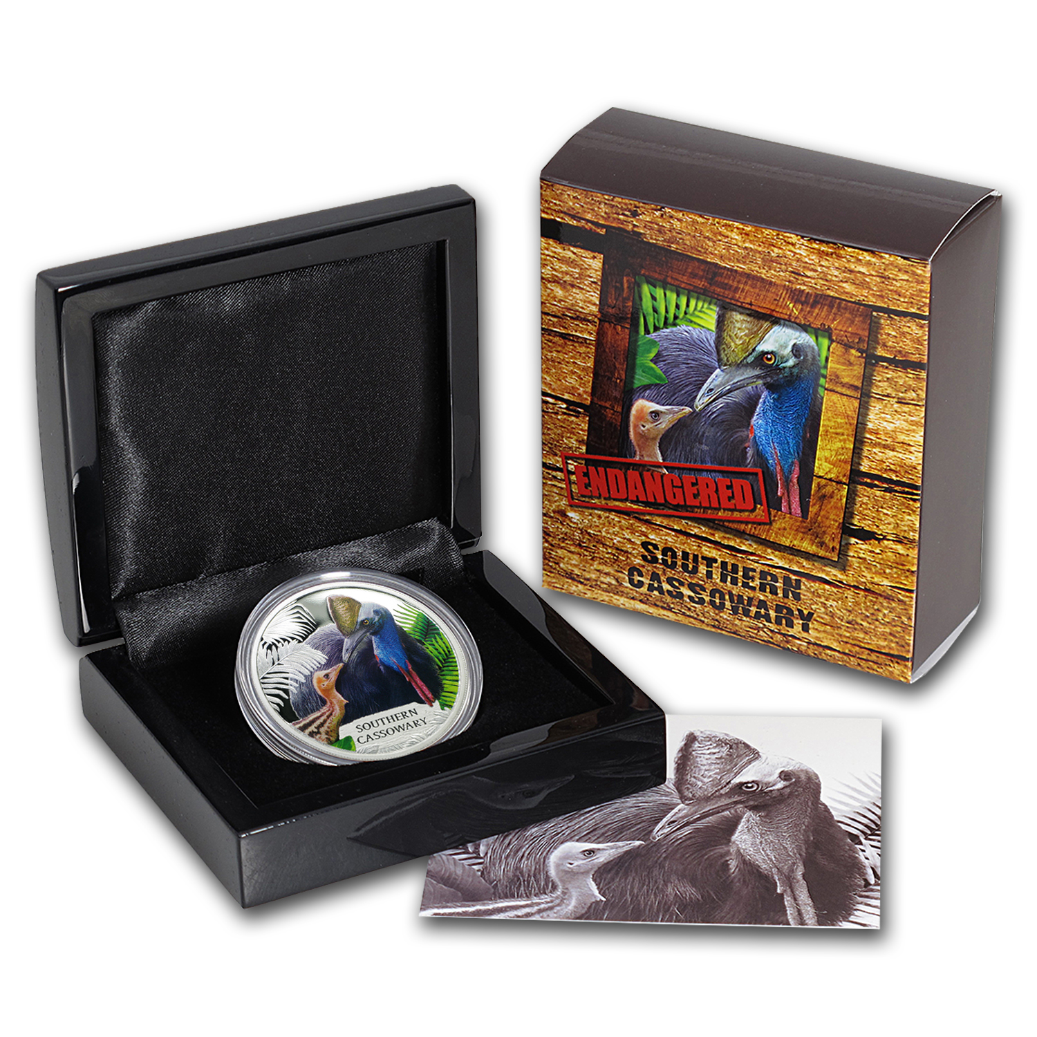 2016 Tuvalu 1 oz Silver Southern Cassowary Proof