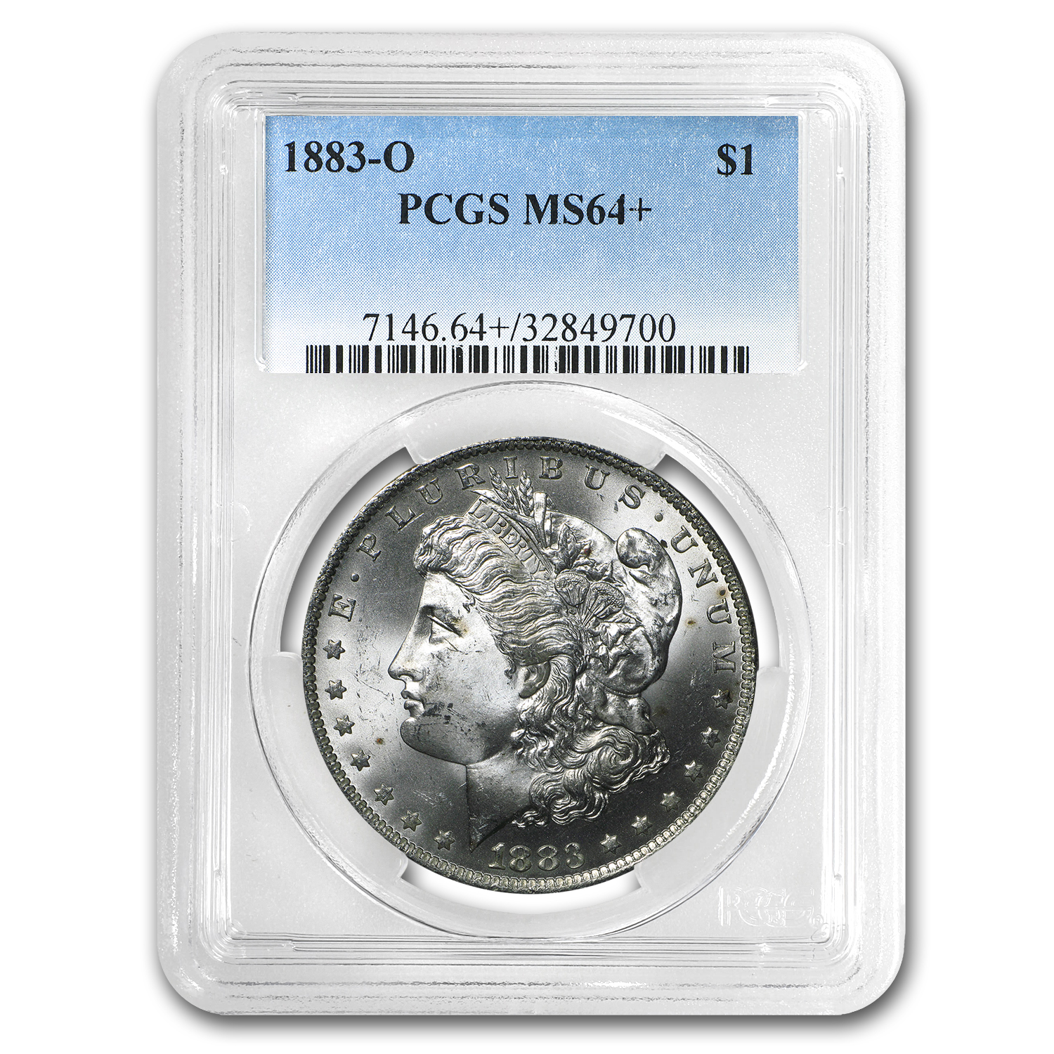 1883-O Morgan Dollar MS-64 + Plus PCGS