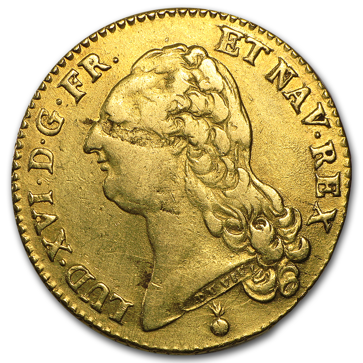 1788-AA France Gold 2 Louis D'or XF