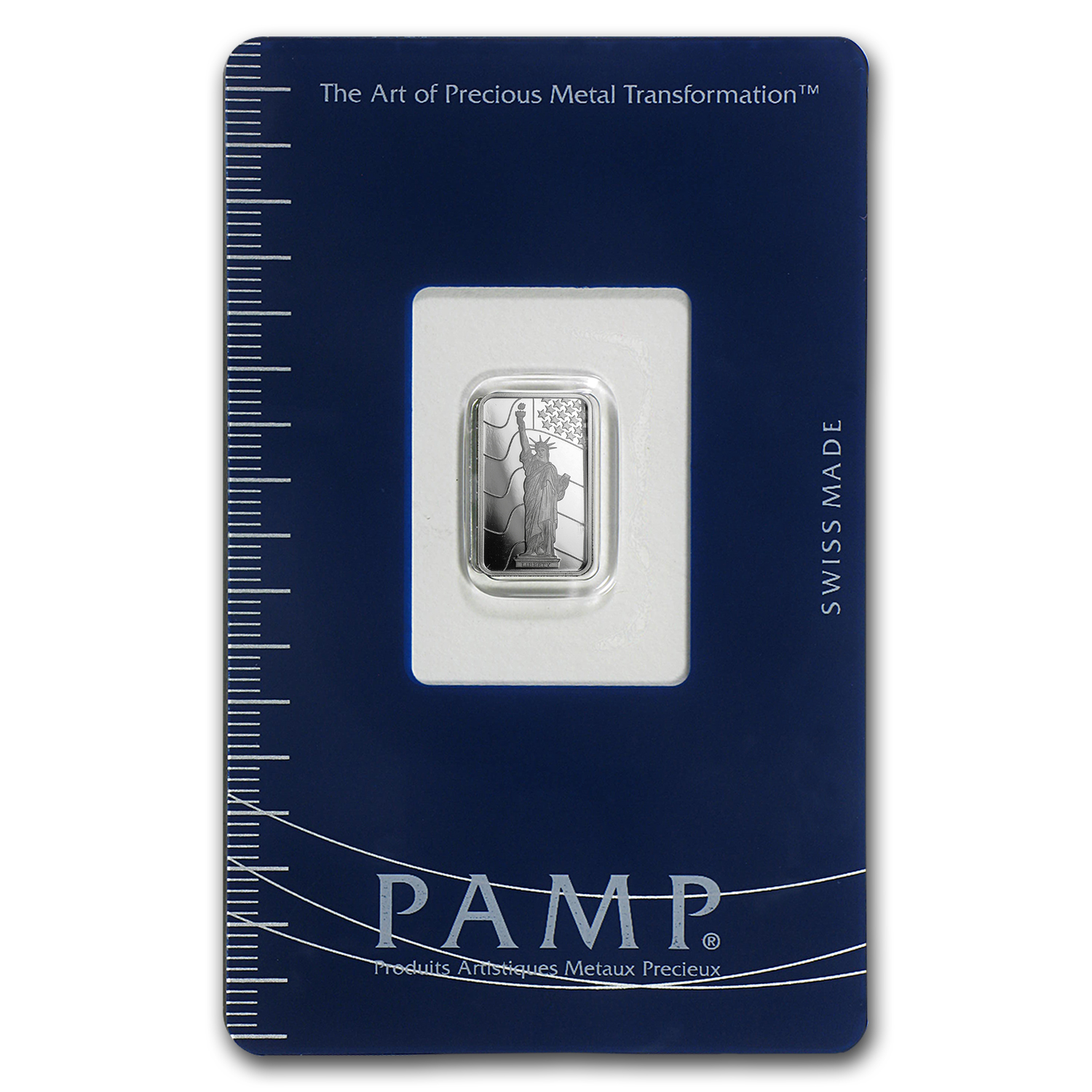 1 gram Platinum Bar - PAMP Suisse Statue of Liberty (In Assay)