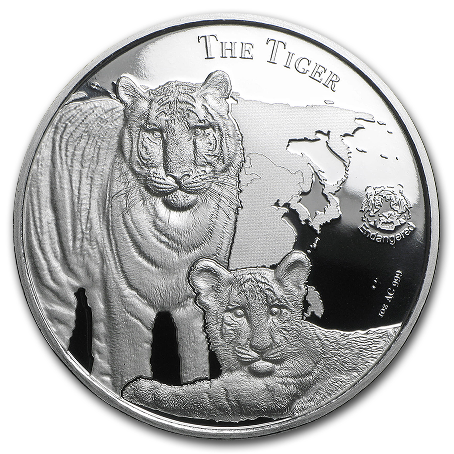 2015 Niue 1 oz Silver $1 Tiger Prooflike