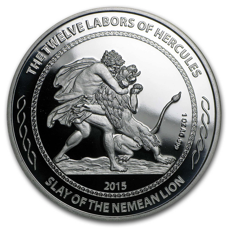 2015 Niue 1 Oz Silver 1 Twelve Labors Slay Of The