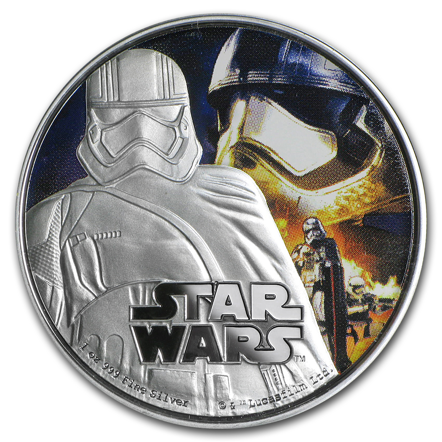 2016 Niue 1 oz Silver $2 Star Wars Captain Phasma (w/Box & COA)