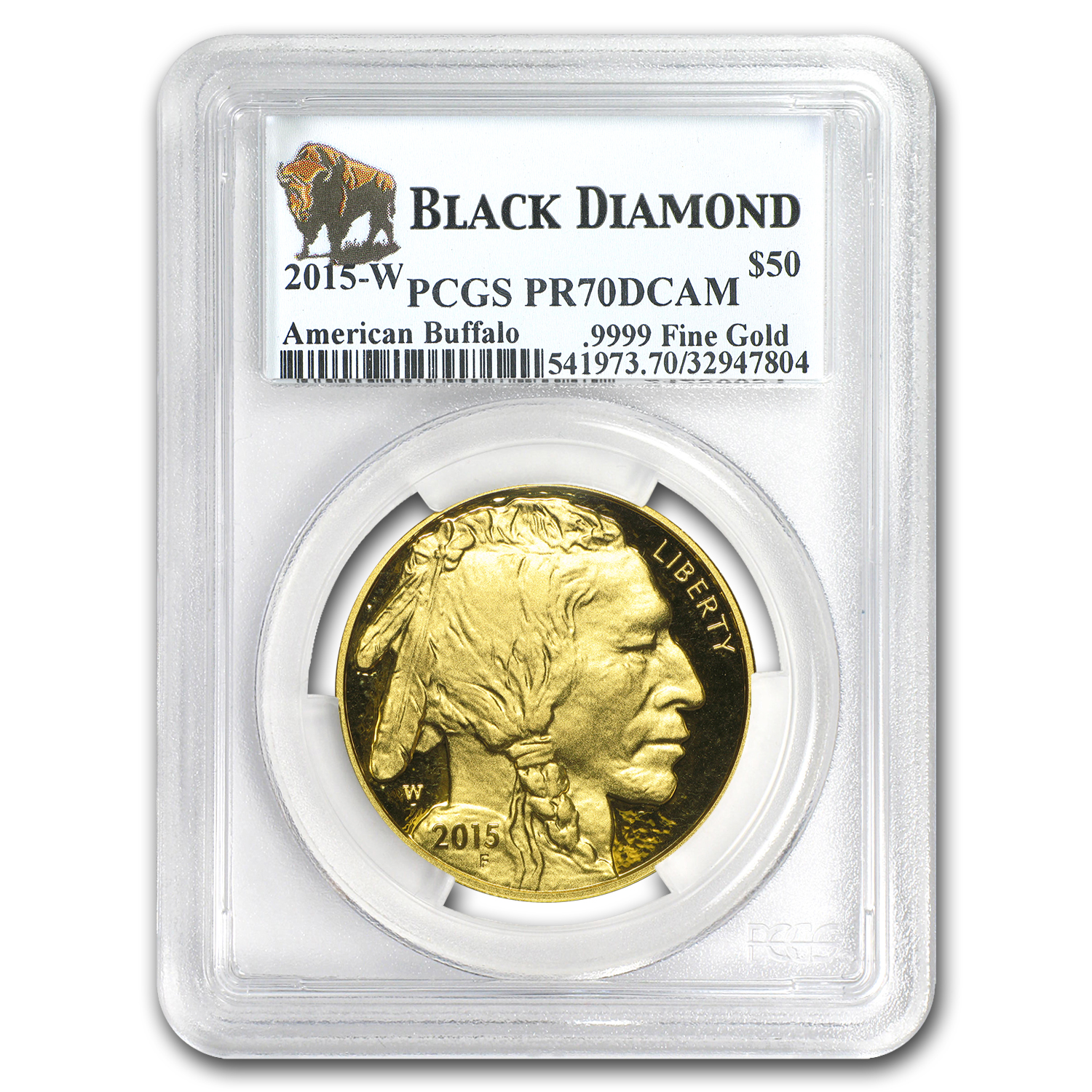 2015-W 1 oz Proof Gold Buffalo PR-70 PCGS (Black Diamond)