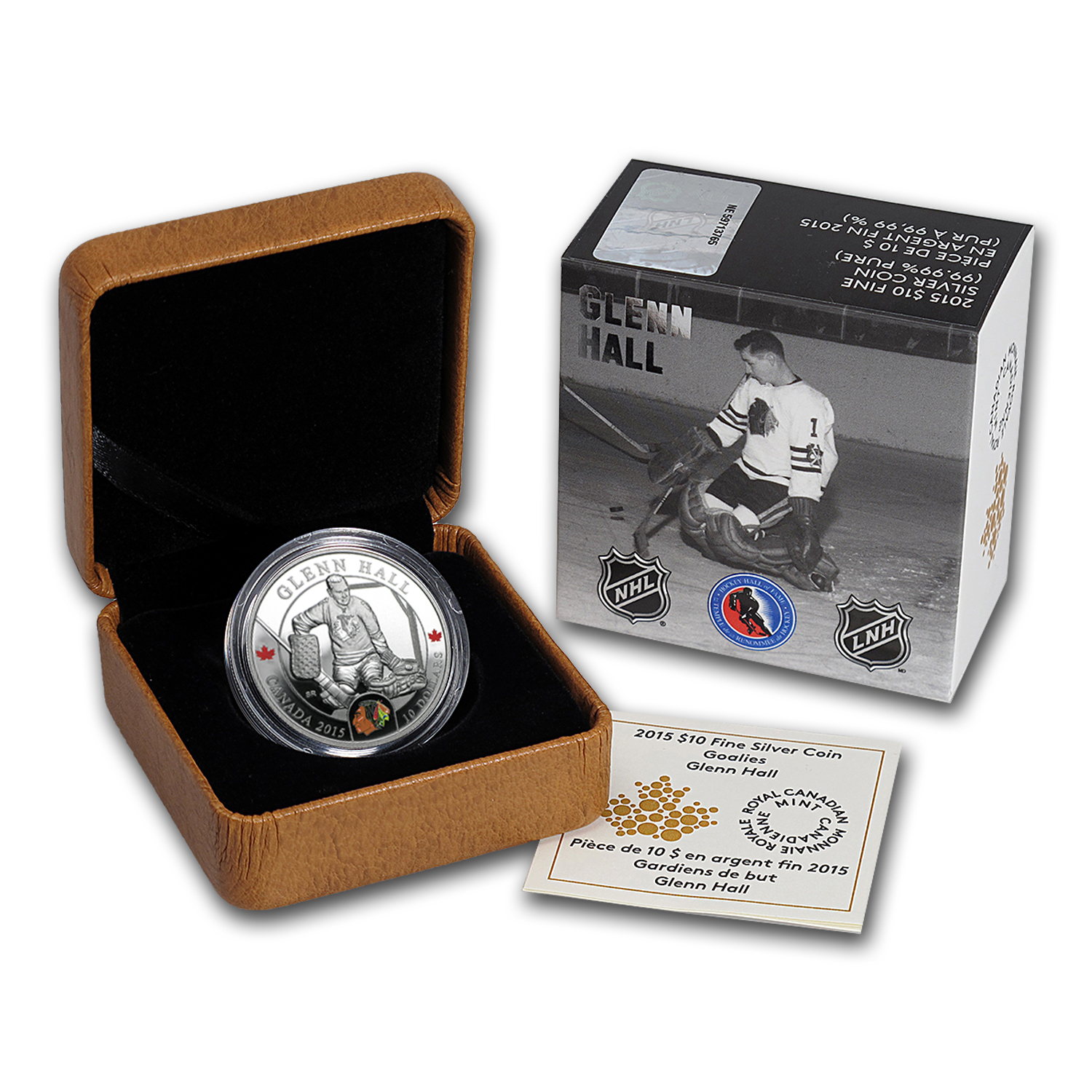 2015 Canada 1/2 oz Silver $10 NHL Goalies: Glenn Hall