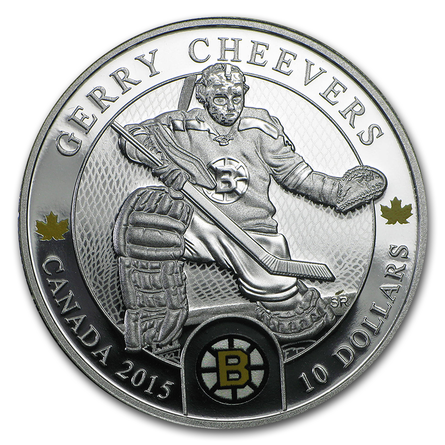 2015 Canada 1/2 oz Silver $10 NHL Goalies: Gerry Cheevers