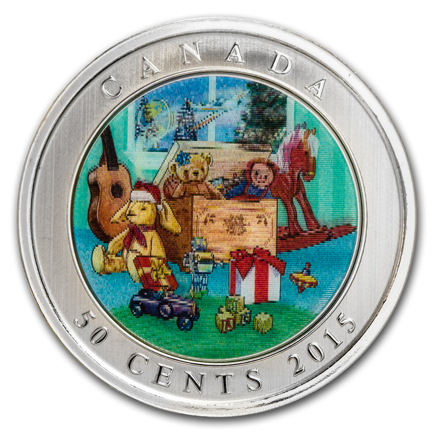 2015 Canada $0.50 Lenticular Holiday Toy Box