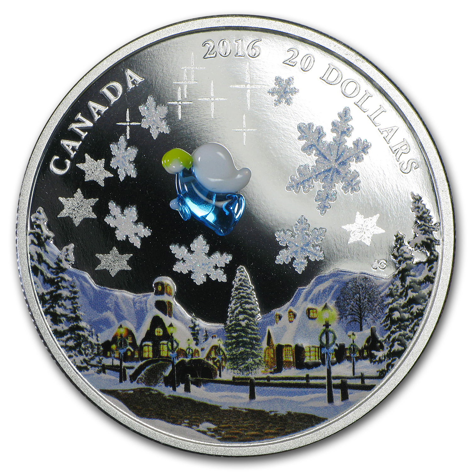 2016 Canada 1 oz Silver $20 Venetian Glass My Angel
