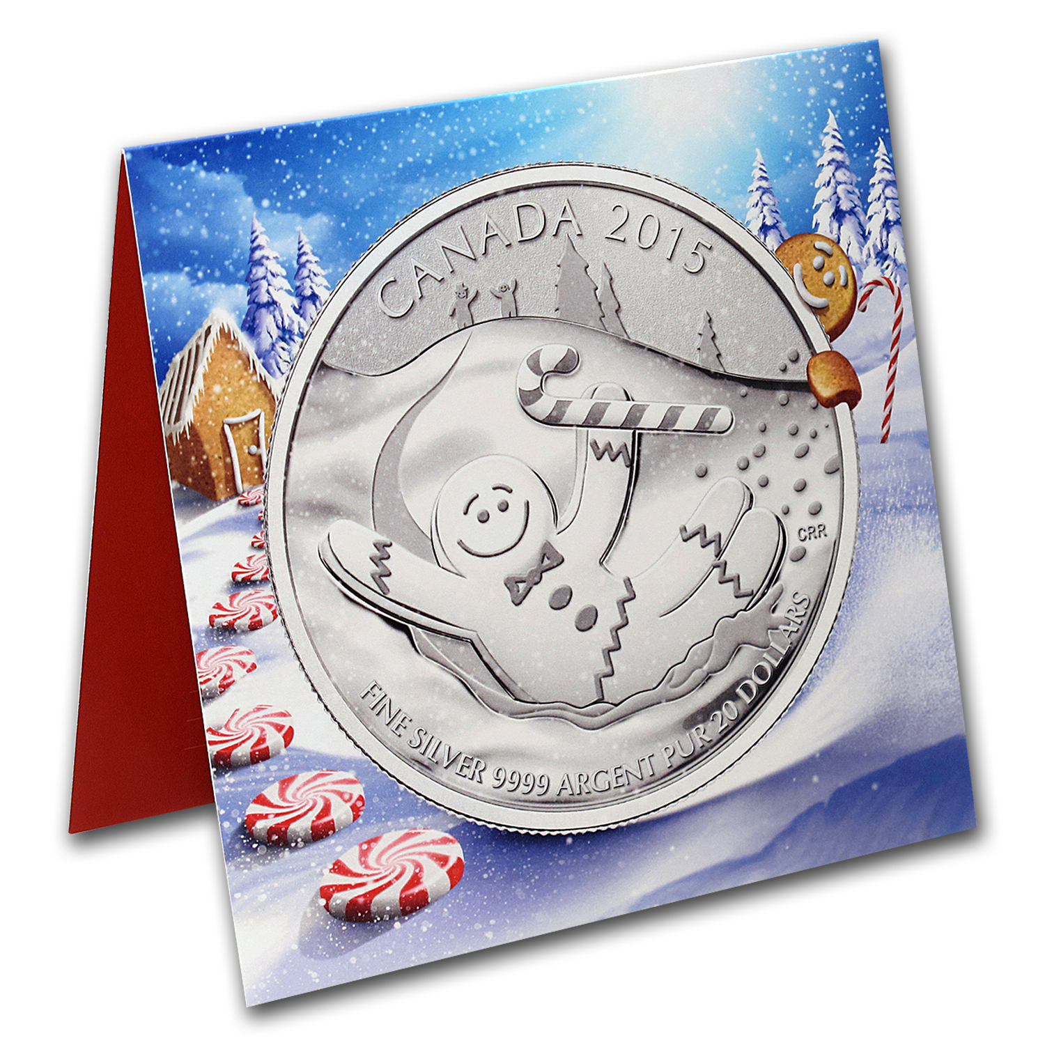 2015 Canada 1/4 oz Silver $20 Gingerbread Man