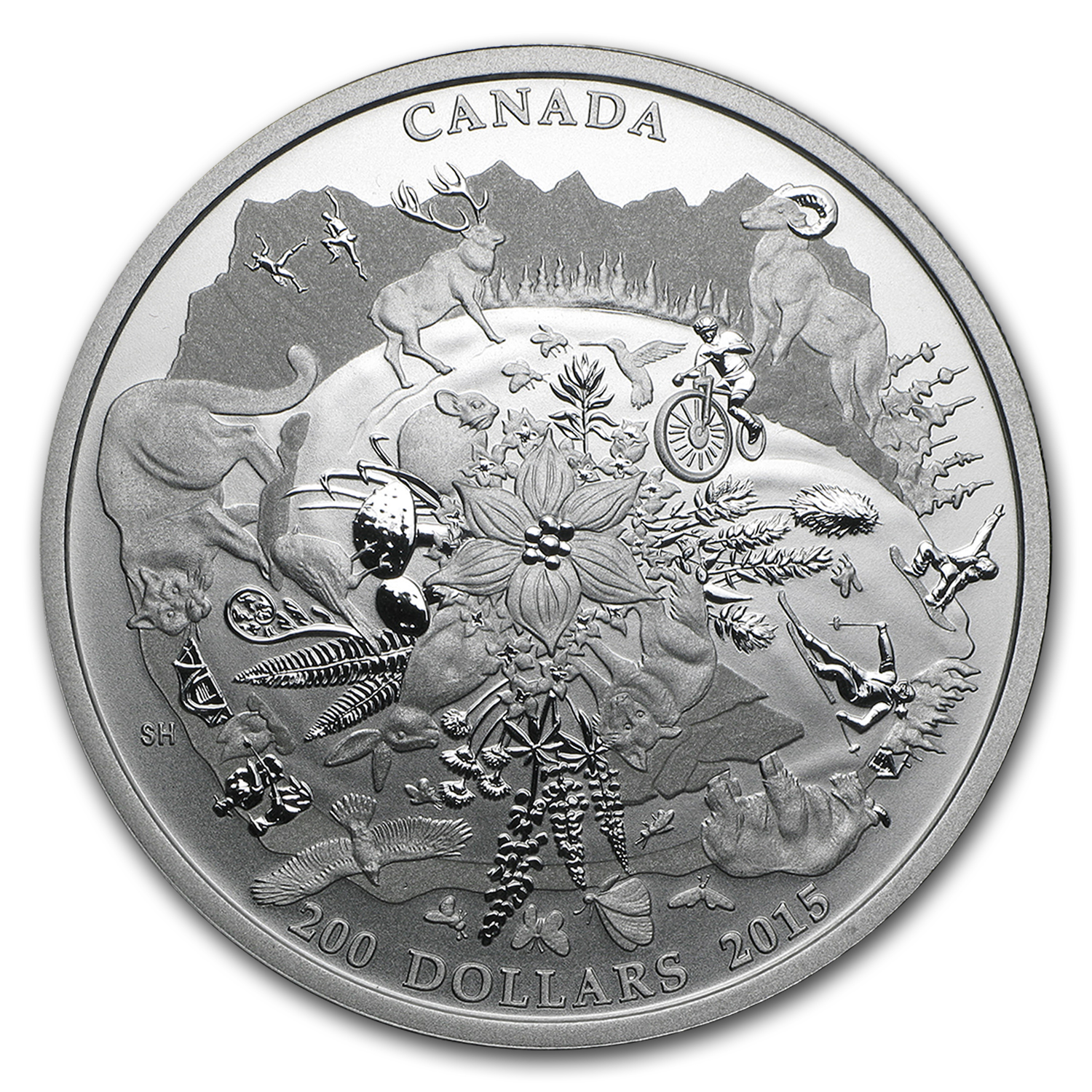 2015 Canada 2 oz Silver $200 for $200 Rugged Mountains