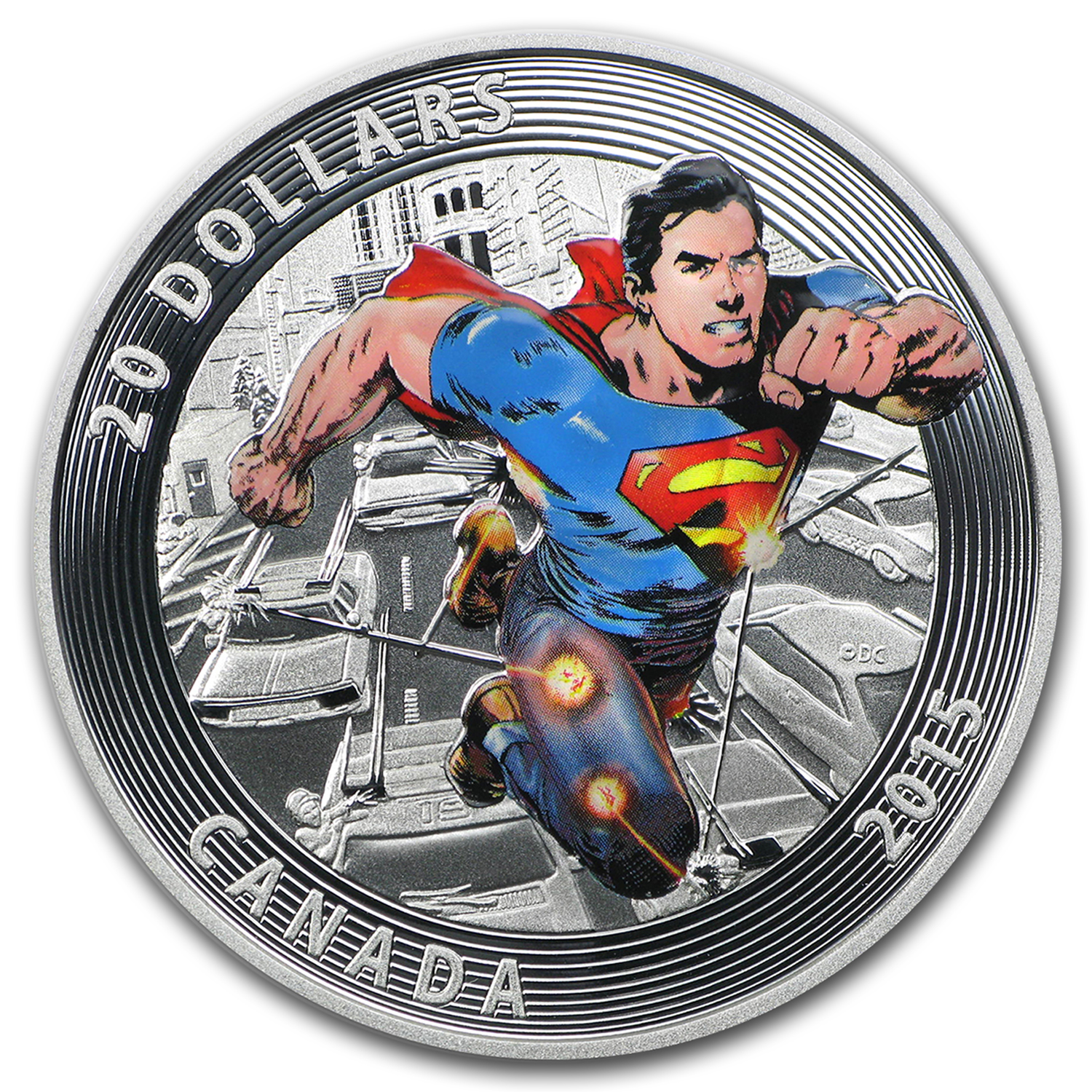 2015 Canada Silver Iconic Superman™ Comic Book Covers (#1) (Dmgd)