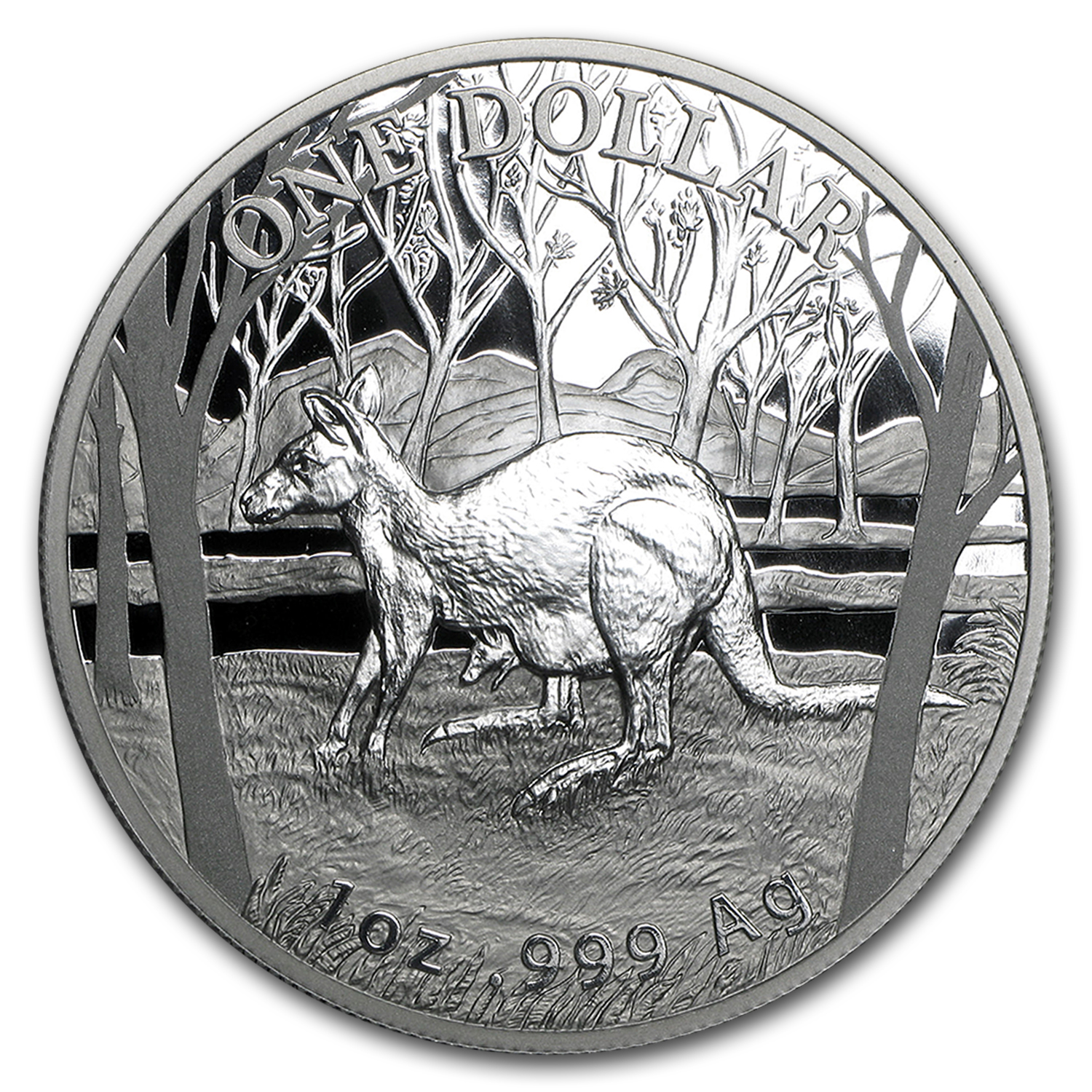 2016 Australia 1 oz Proof Silver Kangaroo (w/Box and COA)