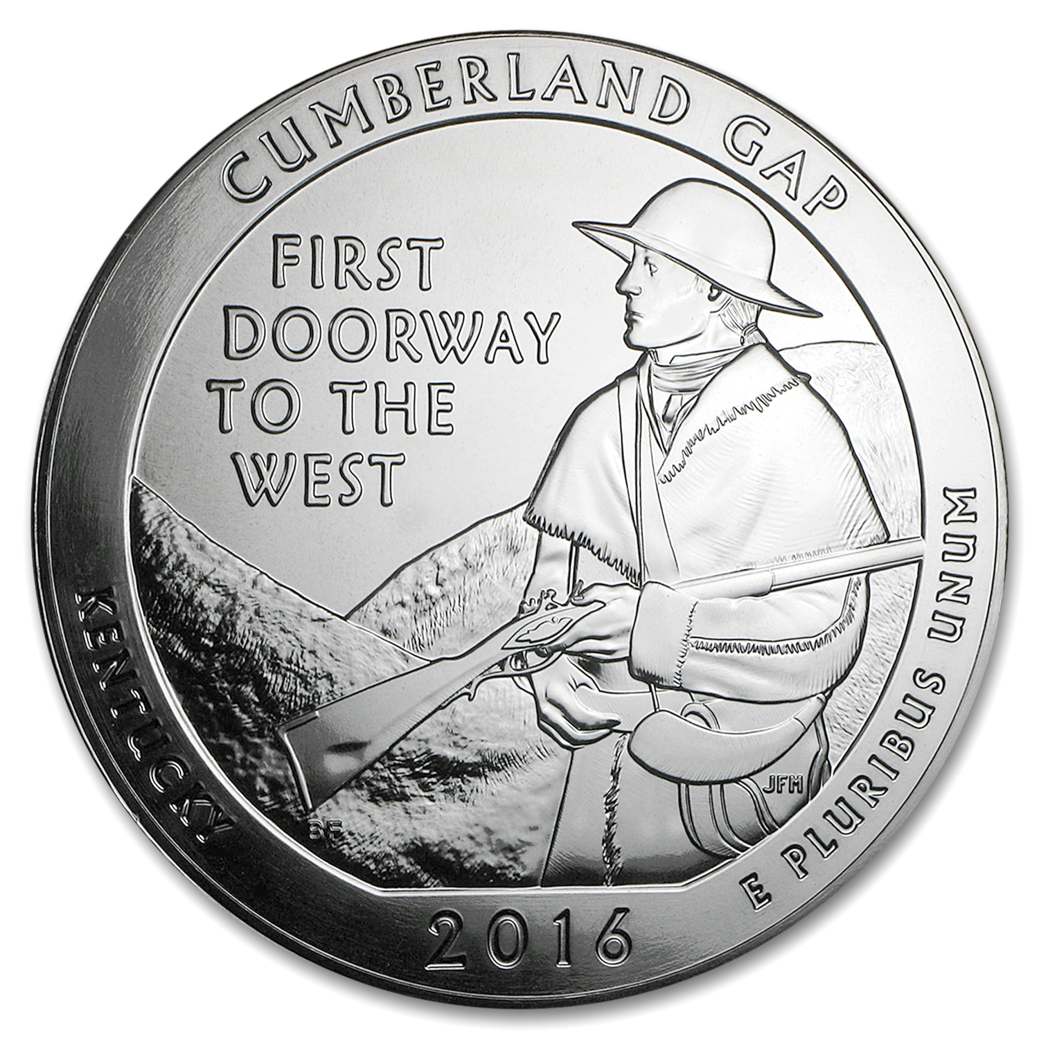 2016 5 oz Silver ATB Cumberland Gap National Historical Park, KY