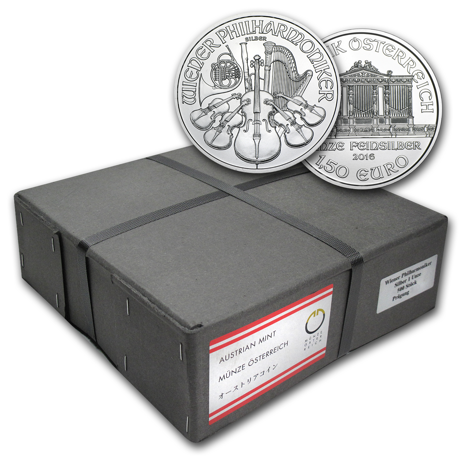 2016 Austria 500-Coin 1 oz Silver Philharmonics (Sealed Box)
