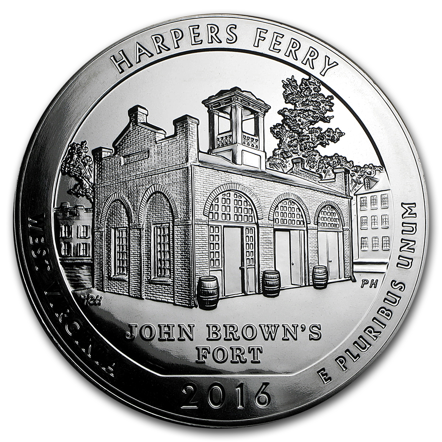 2016 5 oz Silver ATB Harpers Ferry National Historical Park, WV