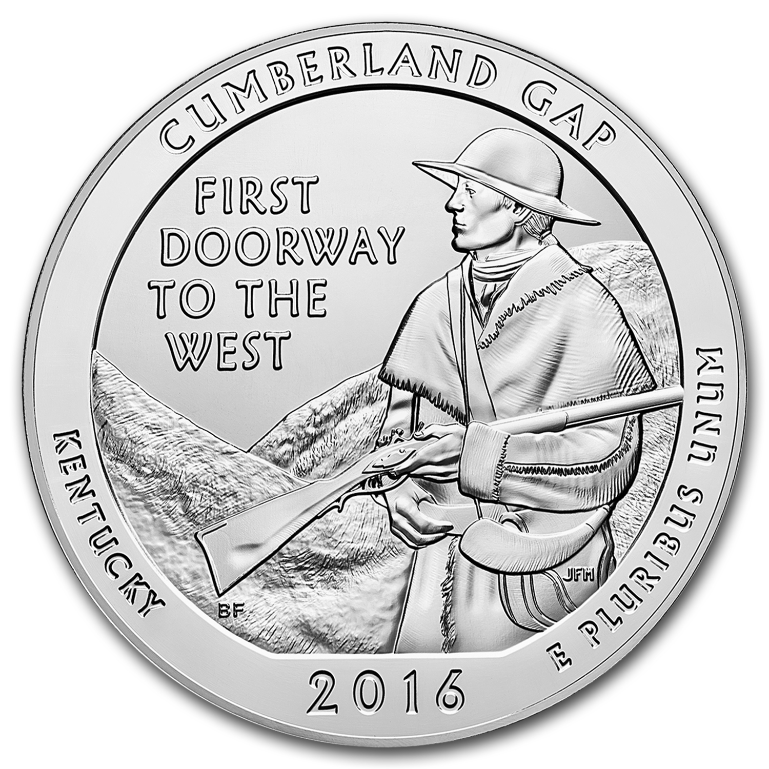 2016 5 oz Silver ATB Cumberland Gap Park (Sealed Monster Box)