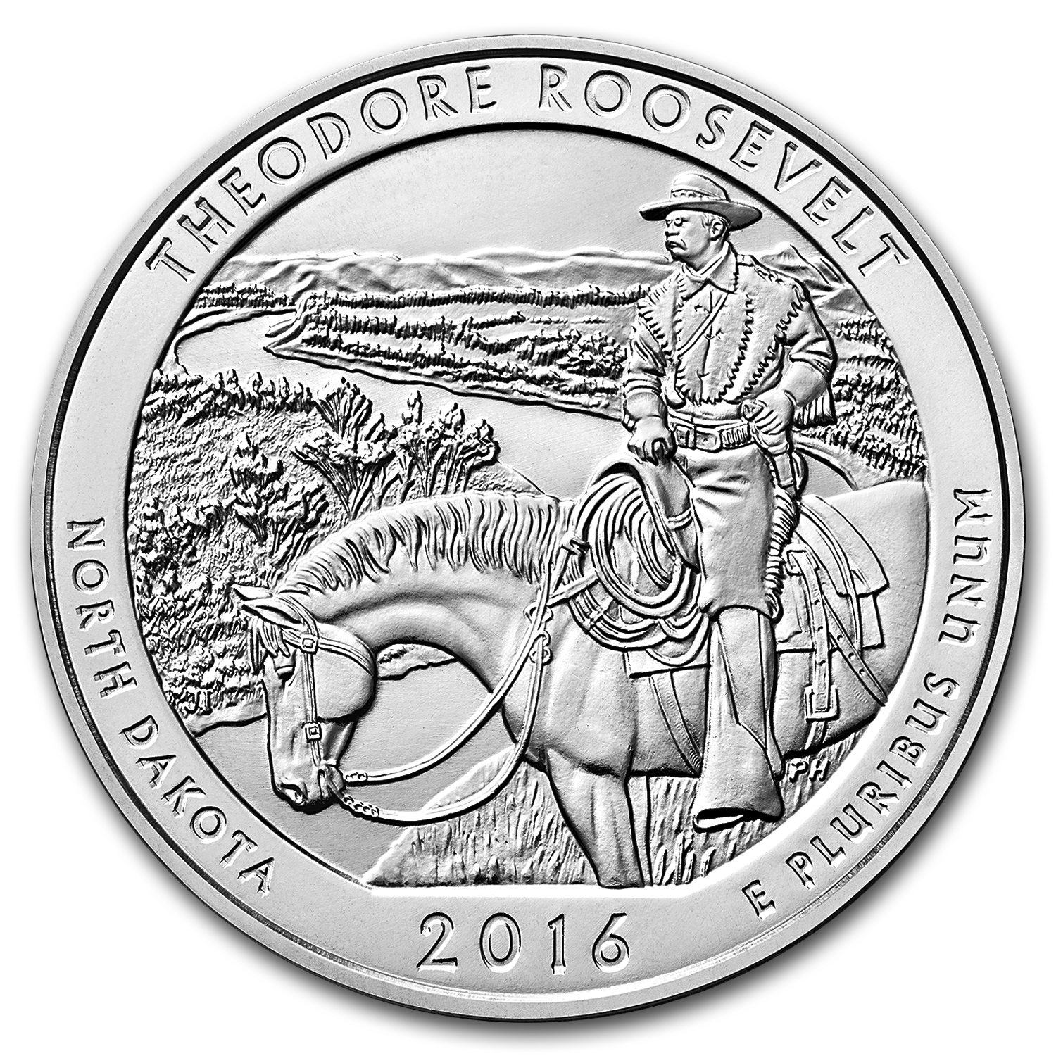 2016 5 oz Silver ATB Theodore Roosevelt Park (Sealed Monster Box)