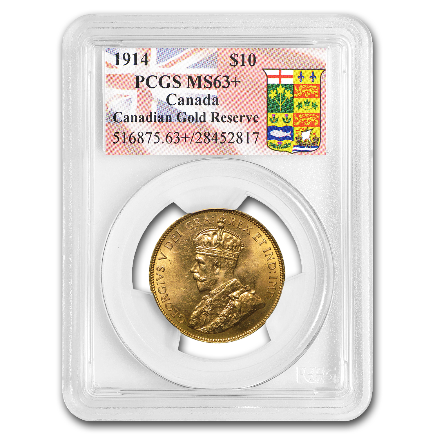 1914 Canada Gold $10 Reserve MS-63+ PCGS