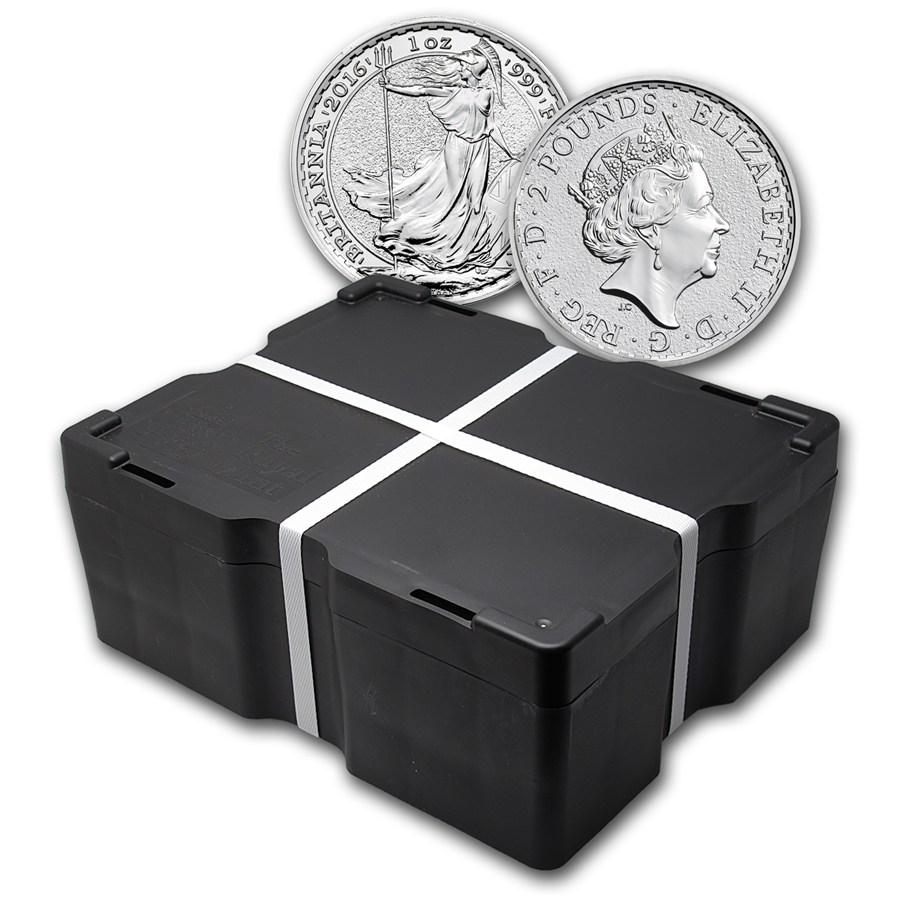 2016 500 Coin 1 Oz Silver Britannia Monster Box Bu