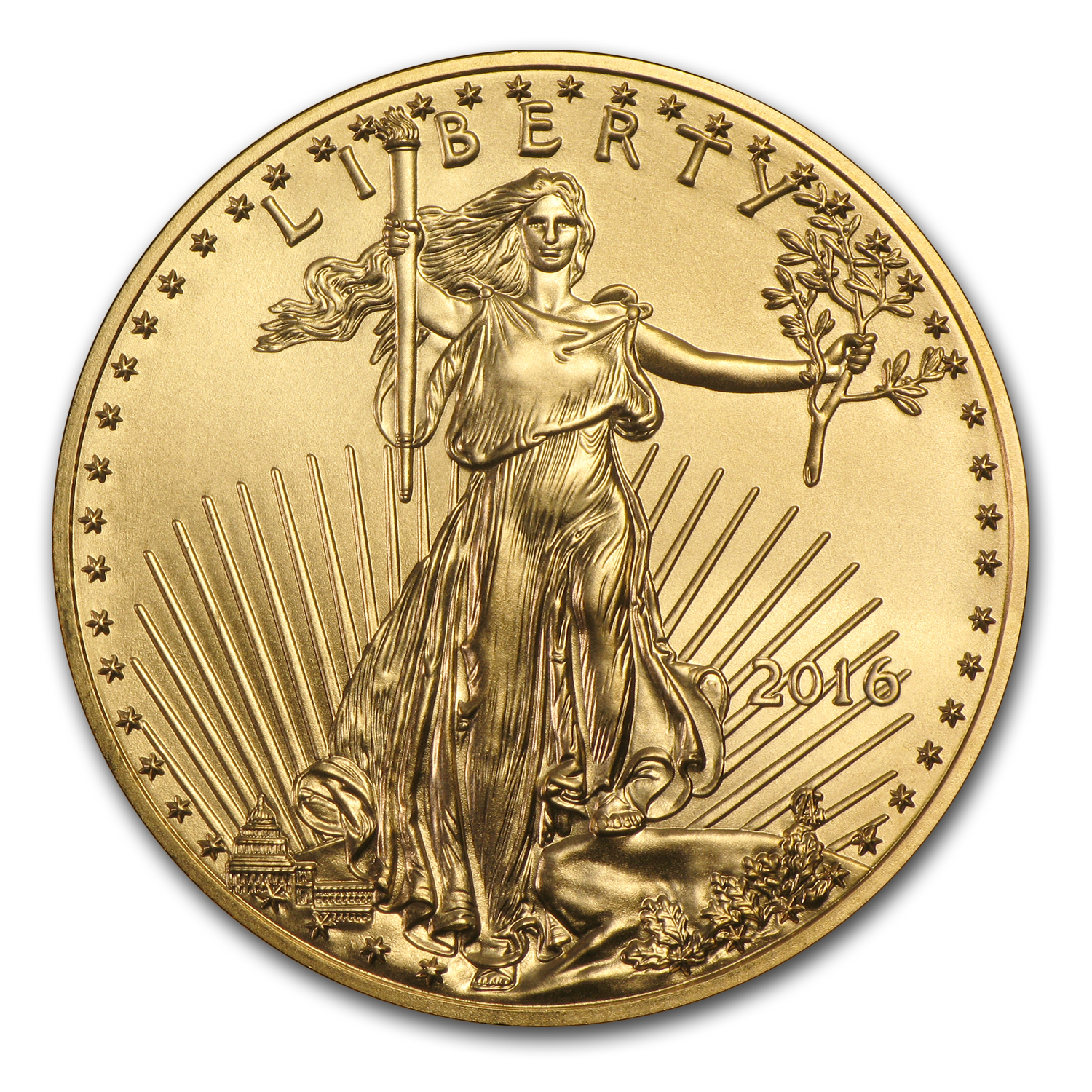 2016 1/2 oz Gold American Eagle BU