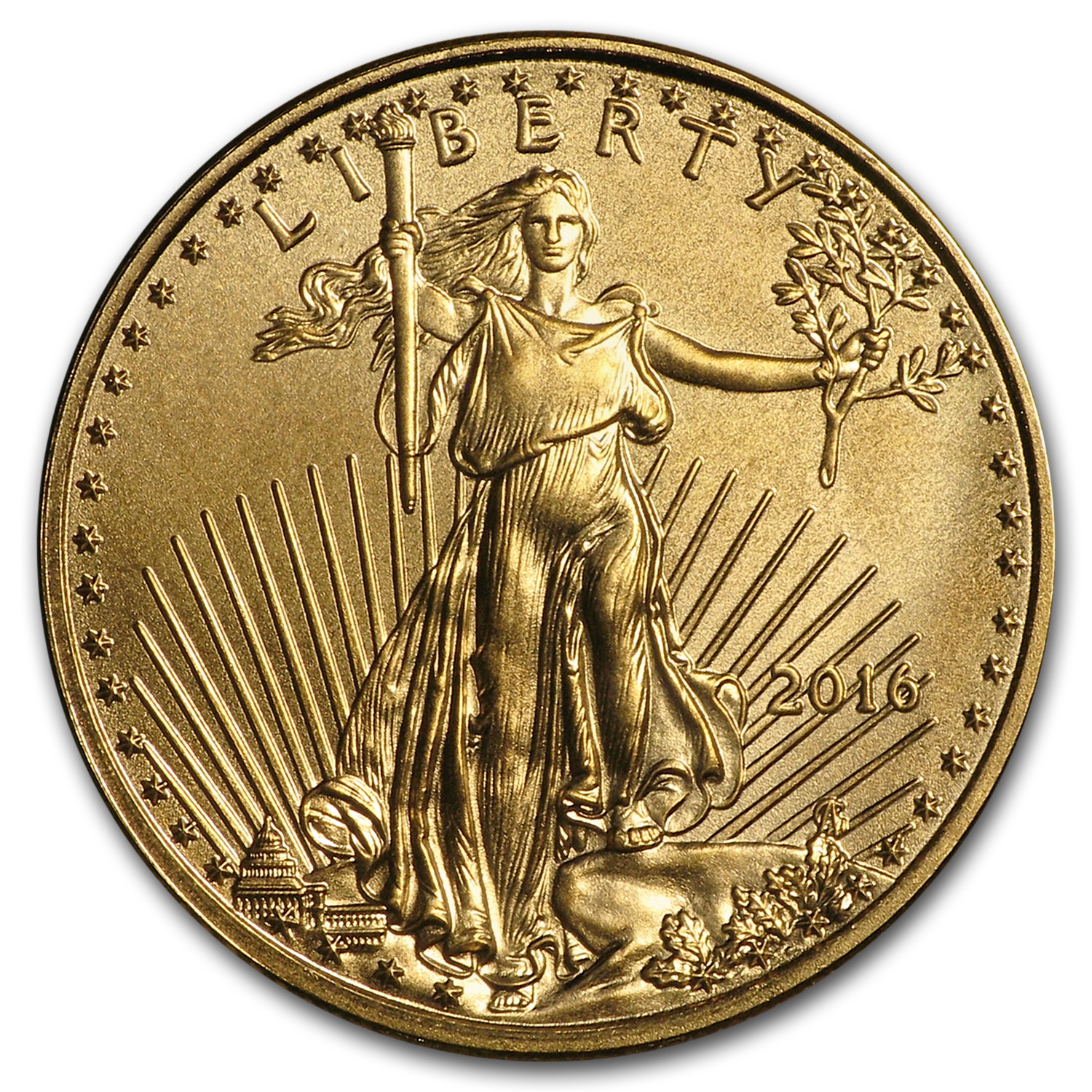 2016 1/10 oz Gold American Eagle BU