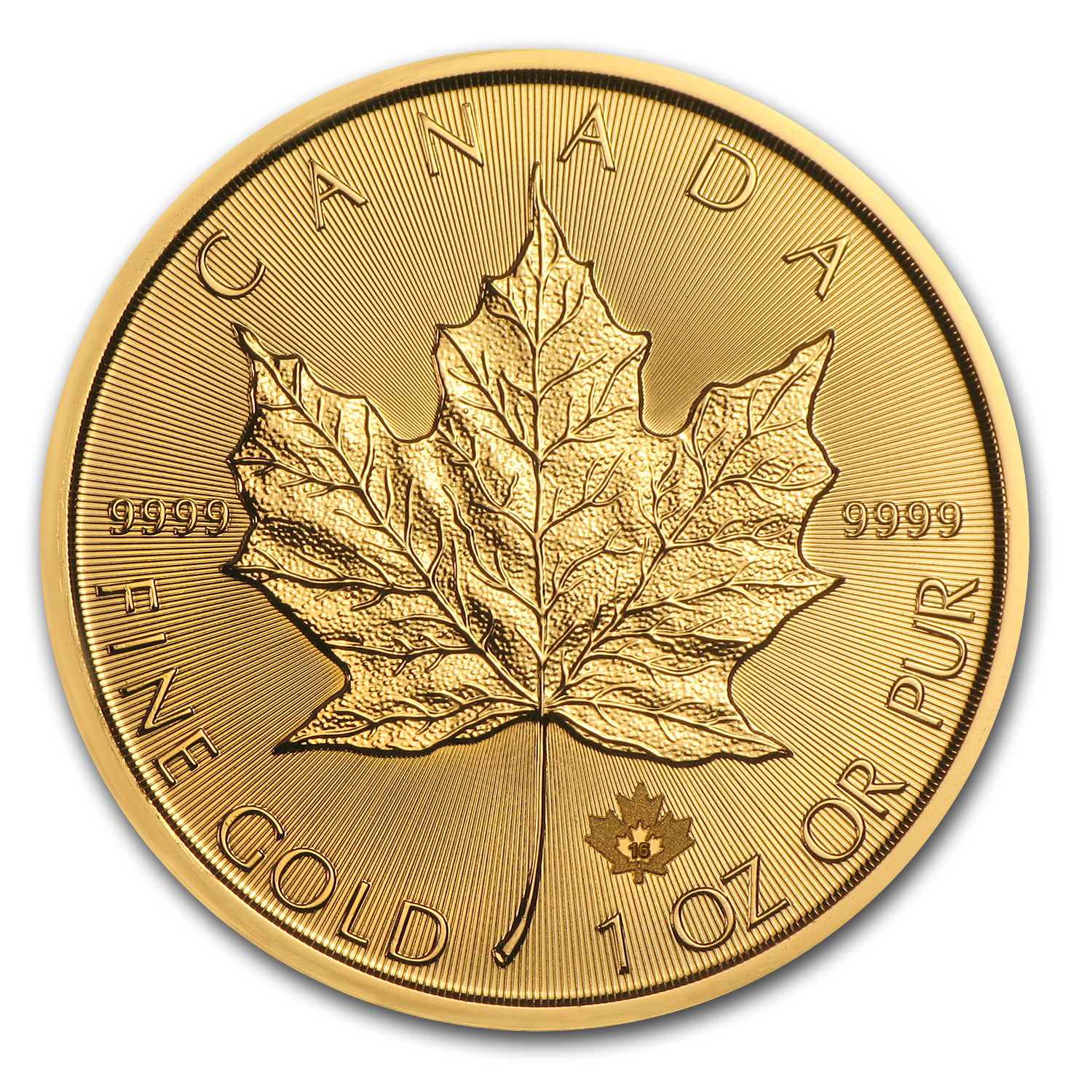 2016 Canada 1 oz Gold Maple Leaf BU