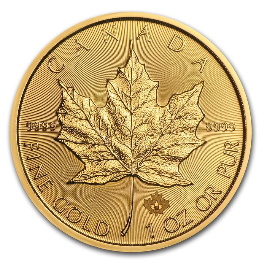 2016 canadian 1 oz gold maple leaf coin for sale one ounce gold maple leaf coins rcm bullion. Black Bedroom Furniture Sets. Home Design Ideas