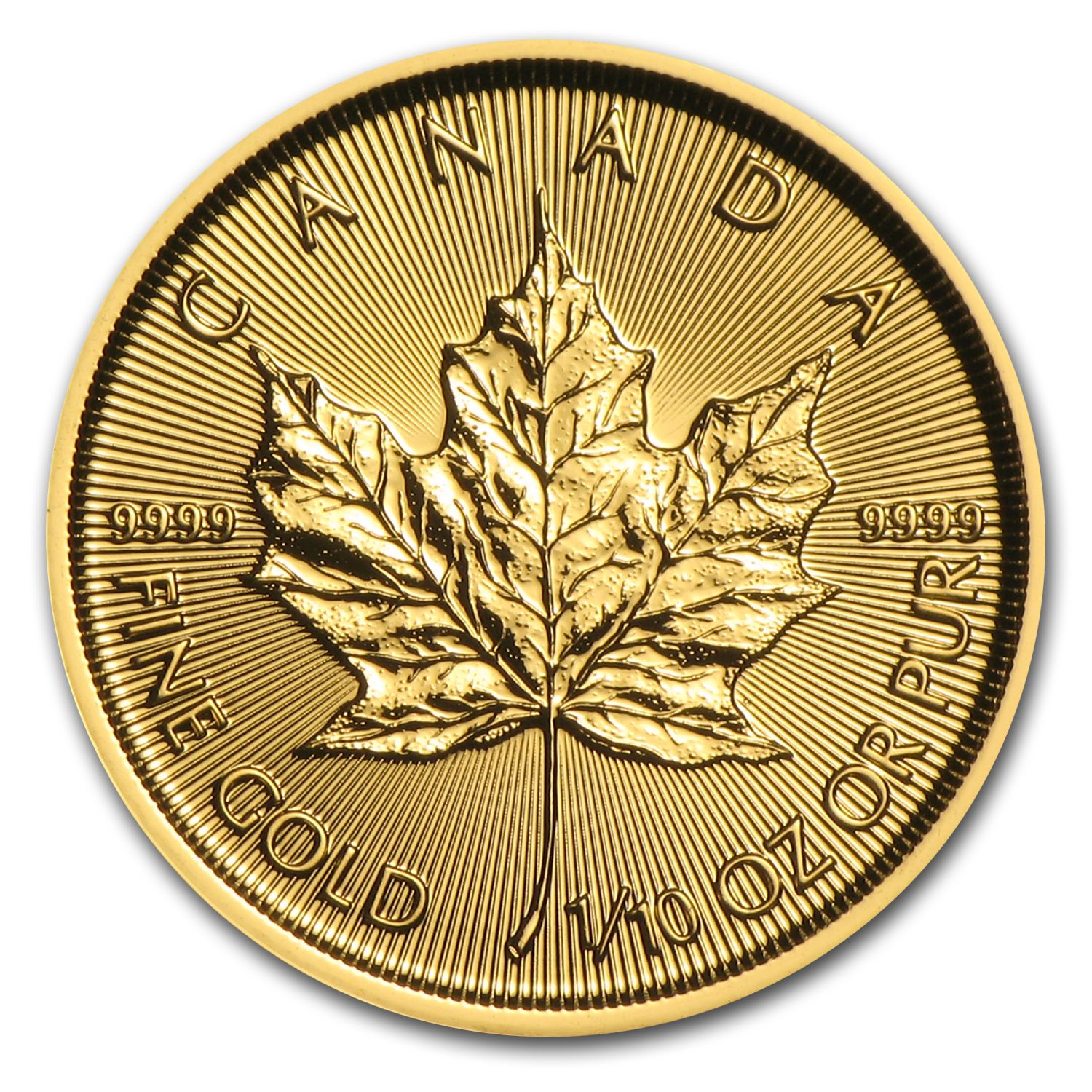 2016 Canada 1/10 oz Gold Maple Leaf BU