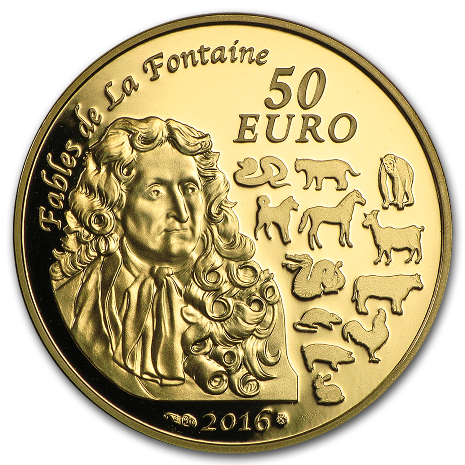 2016 France 1/4 oz Gold €50 Year of the Monkey Prf (Lunar Series)