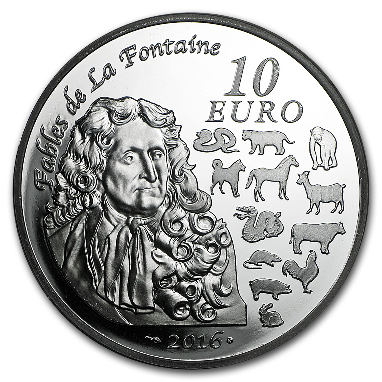 2016 France Silver 10 Year Of The Monkey Proof Lunar