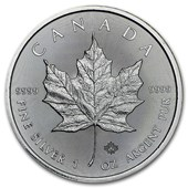 2017 1 oz Silver Canadian Maple Leaf BU
