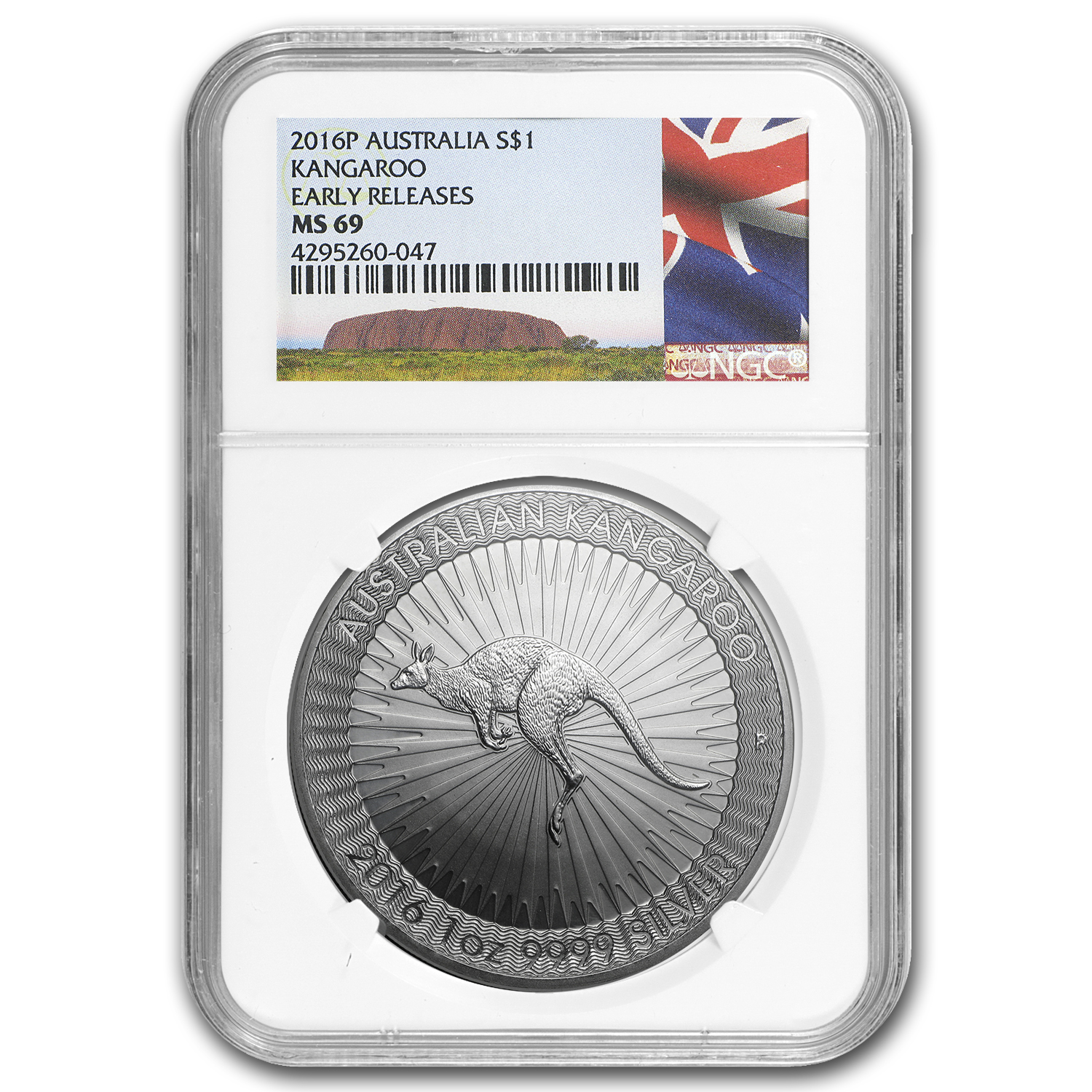 2016 Australia 1 oz Silver Kangaroo MS-69 NGC (Early Release)