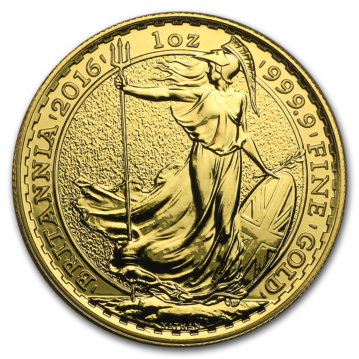 2016 Great Britain Gold 1 oz Britannia BU