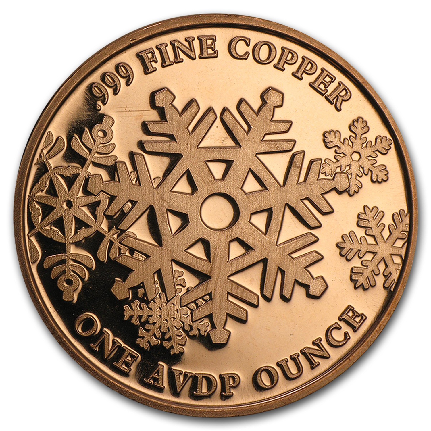 1 oz Copper Round - Merry Christmas To All