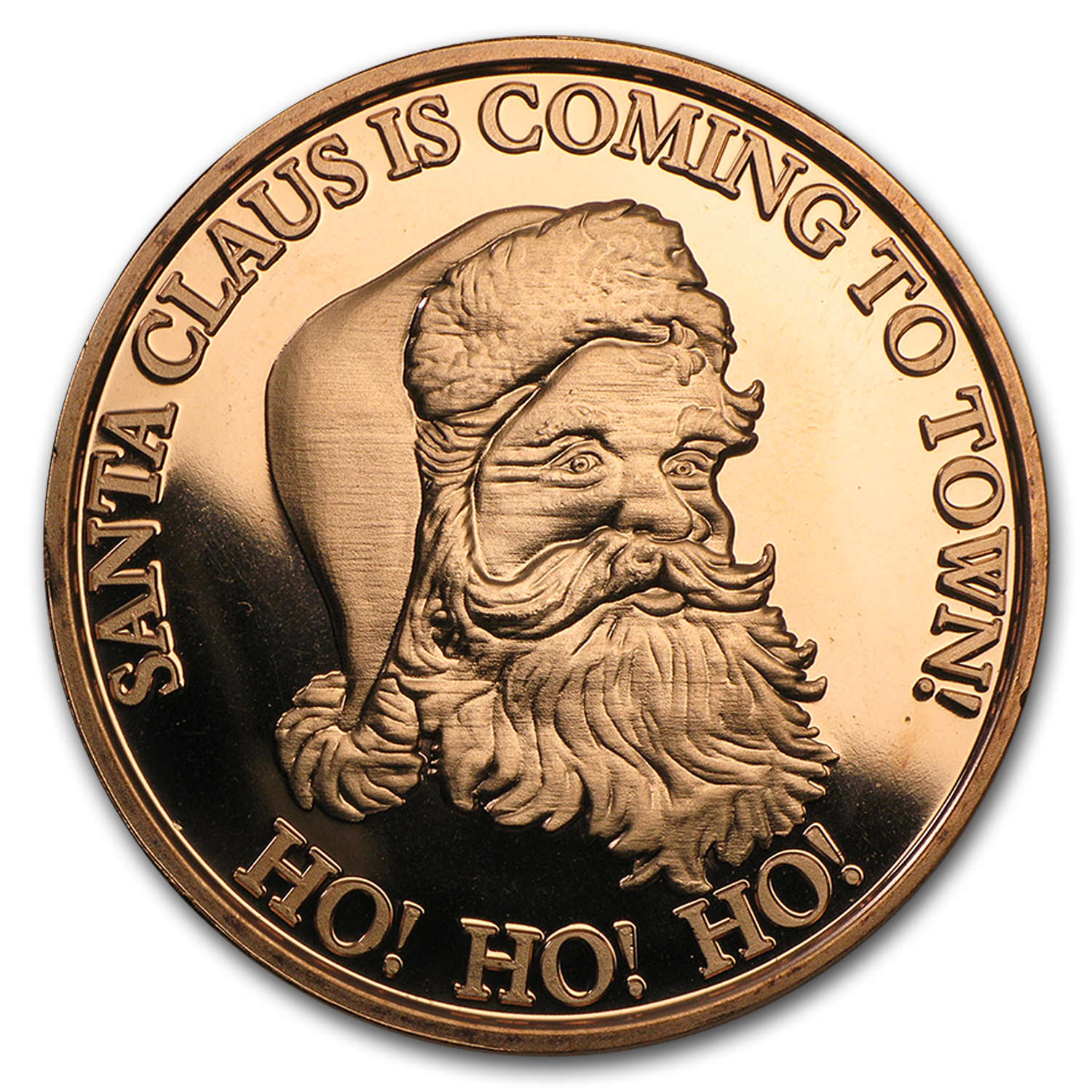 1 oz Copper Round - Santa Claus Is Coming To Town