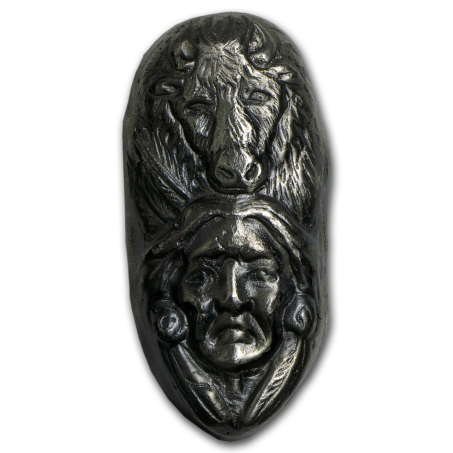 5 oz Silver Bar - Bison Bullion (Bison & The Warrior)