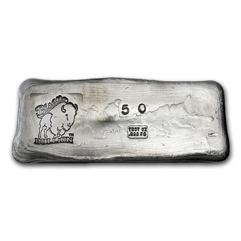 50 Oz Silver Bar Bison Bullion 20 Oz Silver Bars Apmex